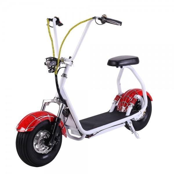 Электро скутер EL-Sport Mini Citycoco 800W (человек паук) фото