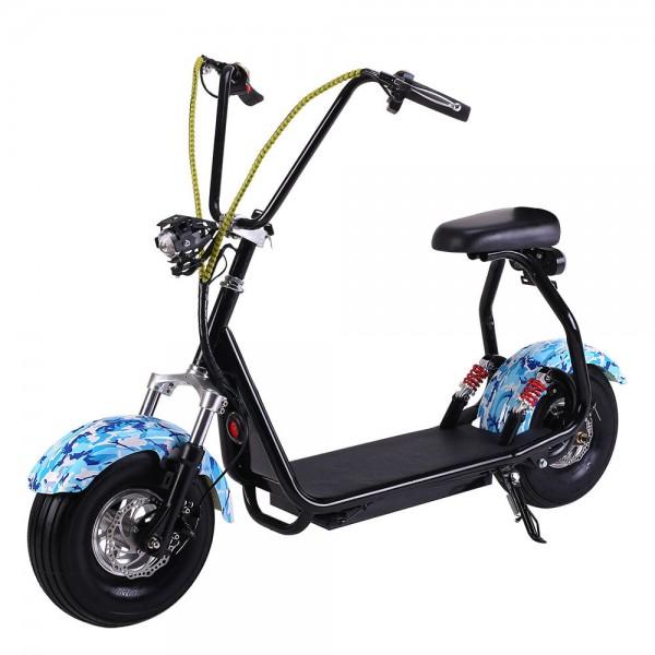электроСкутер EL-Sport Mini Citycoco 800W Blue фото