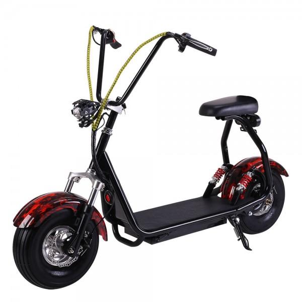 Электрический скутер EL-Sport Mini Citycoco 800W Flame фото