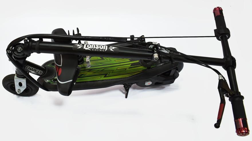 Электросамокат Ел-спорт Цhаргер ц сиденьем (надувное переднее колесо) фото