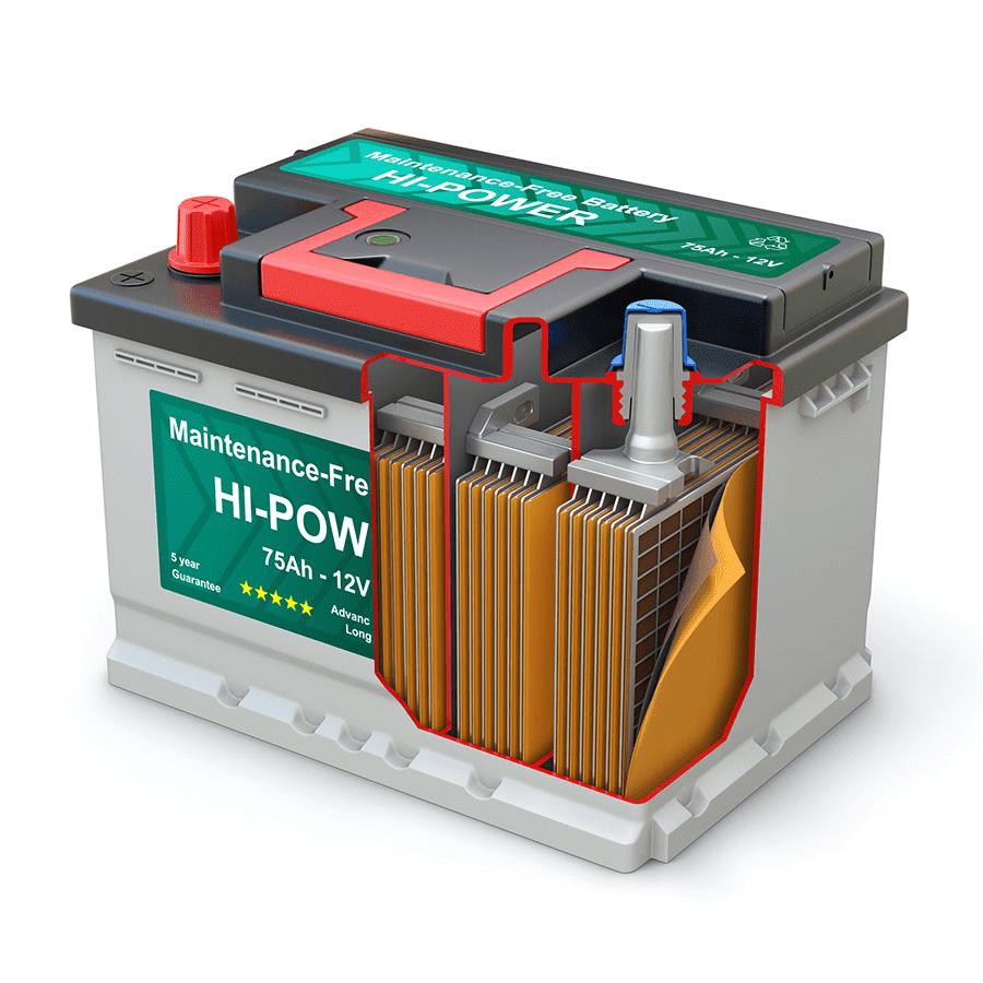 Свинцово-кислотная аккумуляторная батарея фото