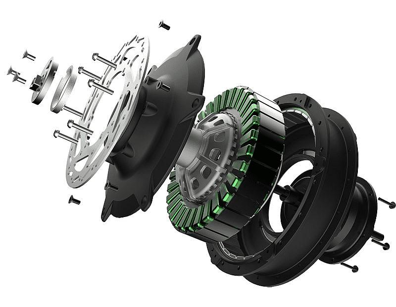 Мотор-колесо электровелосипеда фото